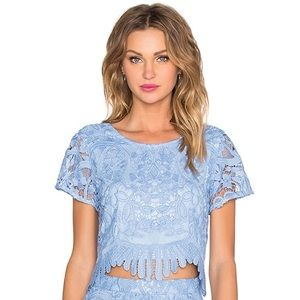 {Lovers + Friends} Daycation Lace Crop Top